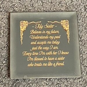 Dimensions My Sister Mirror Message Stand